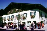 flowers, building, stores, shops, Oberammergau, Garmisch-Partenkirchen district, Bavaria, CEGV05P15_19