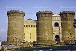 Castello Nuovo, castle Nuovo, (New castle), landmark, Turret, Tower, mansion, palace, building
