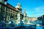 Trevi Fountain, Rome, Sant'Agnese in Agone, Baroque church, Piazza Navona