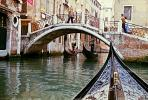 Arch footbridge, Gondola, Venice