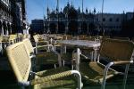 Cafe, Chairs, Tables, St. Marks Square, Venice, CEIV05P05_12