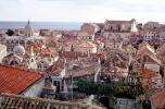 buildings, homes, red roofs, Dubrovnick, Adriatic Sea