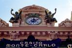 Casino, outdoor clock, roman numerals, Angels, Statues, bar-relief, ornate, building detail