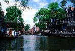 Canal, Boat, Waterway, Trees, Homes, Houses, Amsterdam, CENV01P03_12