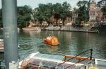 Heiniken Beer Boat, Waterway, Canal, Homes, Houses, Water, Train Station, Amsterdam, CENV02P01_17