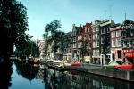 Waterway, Canal, Homes, Houses, Water, Reflection, Amsterdam, CENV02P01_18