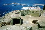 old gun emplacements  near the top of the aerial cableway station, 1950's
