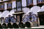 Fonseca Winery, Setubal, Barrels, Art, Flowers, Windows, Oak Barrels, blue tile, balcony, CEPV01P03_15