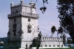 TORRE DE BELEM, building, tourist attraction, castle tower, Lisbon, CEPV01P05_01