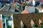 Rooftops, red roofs, buildings, skyline, Lisbon