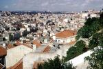 red roofs, buildings, skyline, Lisbon