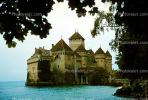 Chillon castle, Lake Geneva, Switzerland, 1950s, CESV01P01_08.1671
