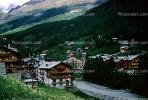 Homes, Buildings, Zermatt, Switzerland, 1950s, CESV01P06_02