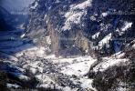 Valley, Village, Cliff, town, Lauderbrunnen, Switzerland, 1950s, CESV01P12_01