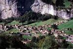 Homes, houses, valley, village, Lauterbrunnen, Switzerland