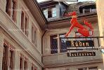 Ruden Restaurant, Dragon, Dog, Signage, Gargoyle, Zurich, Switzerland, CESV02P15_19.1720