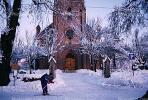 Church, Snow, Steeple, Building, Asker, CEVV01P13_03