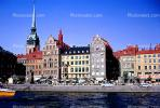 Waterfront, buildings, steeple, skyline, apartments, Baltic Sea, CEWV01P04_18
