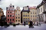 Plaza, Buildings, Benches, Apartments, Stortorget, Old Town, Stockholm, CEWV01P07_16