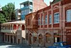 Building, balcony, shops, homes, houses, Tblisi