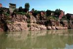 Kura River, cliff, homes, houses, buildings, Tbilisi, CGGV01P03_11.1721