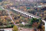 Aqueduct, cityscape, skyline, buildings, viaduct, woodlands, trees, forest, river, CGMV02P05_13