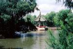 Pagoda, lake, trees, Summer Palace