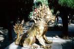 Dragon, claws, creature, Statue, figure, golden, Lion