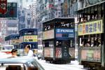 Hong Kong Tram, Double-Decker Trolley, traffic jam, CHHV01P10_05B