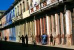Colorful Buildings, Sidewalk, Old Havana building, CICV01P06_19