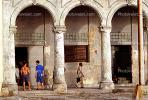 Old Havana, Buildings, Sidewalk, CICV01P08_17B