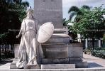 Woman Statue with a shield, Cienfuegos Cuba, CICV01P09_13