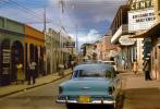 Cars, Shops, Buildings, Road, Street, Hills, buildings, 1950s, CIUV01P02_08