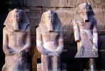 Pharoah statues, Great Temple of Amun, Karnak, Luxor, Egypt