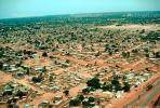 Flying over Ouagadougou, cityscape, desert, CJFV01P02_01.1041