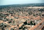 Flying over Ouagadougou, cityscape, desert, CJFV01P02_01