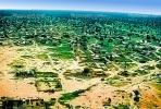 Flying over Ouagadougou, cityscape, desert, CJFV01P02_02B