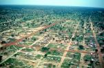 Flying over Ouagadougou, cityscape, desert, CJFV01P02_03