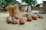 jugs, round houses, thatched roofs, Town, City, Bobo-Dioulasso, Houet Province, Sod, CJFV01P03_16