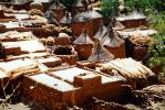 Homes, Grass Roofs, Building, Village, Dogon Country, Mopti Region, Sahil, Sahel, CJQV01P02_19.0380
