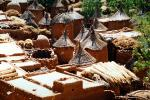 Homes, Grass Roofs, Building, Village, Dogon Country, Mopti Region, Sahil, Sahel, CJQV01P02_19B.0380