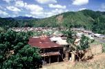 Village, rusty tin roof, buildings, homes, houses, mountains, jungle, CKDV01P05_17