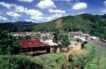 Village, rusty tin roof, buildings, homes, houses, mountains, jungle, CKDV01P05_18
