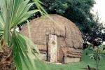 Beehive Grass Hut, Door, Entrance, Building, Cape Town, Sod, CKFV01P08_14