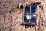 Beehive Grass Hut, window, Glass, Building, Cape Town, Sod, CKFV01P08_16