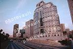 Interstate I-10 freeway, 1000 Wilshire building, Cityscape, skyline, Outdoors, Outside, Exterior, highrise, Wedbush Morgan Securities, commercial office, high-rise, CLAV01P15_17