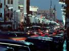 Twilight, Cars, automobile, vehicles, Dusk, Dawn, Hollywood Blvd., CLAV02P05_08