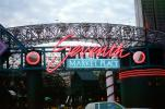 Seventh Market Place, building, entertainment, cars, neon sign