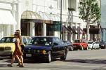 Rodeo Drive, BMW car, crosswalk, women, building, Automobile, Vehicle, CLAV05P09_04