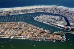 Harbor, Docks, Boats, rooftops, homes, houses, buildings, Island, pier, sand, beach, ocean